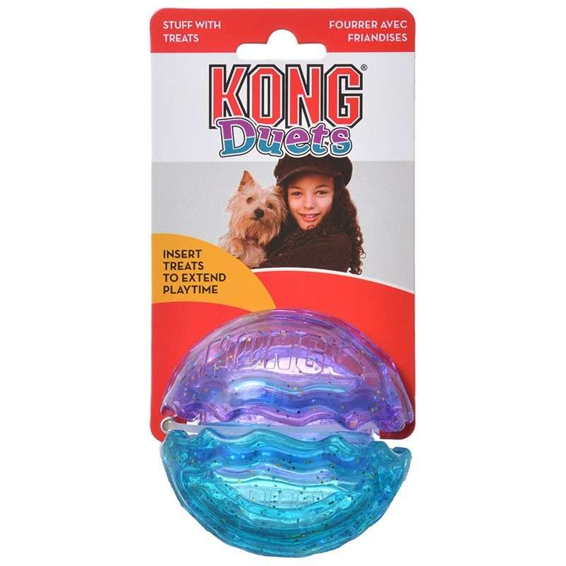 KONG Duets Kibble Ball Ball  L acquista comodamente