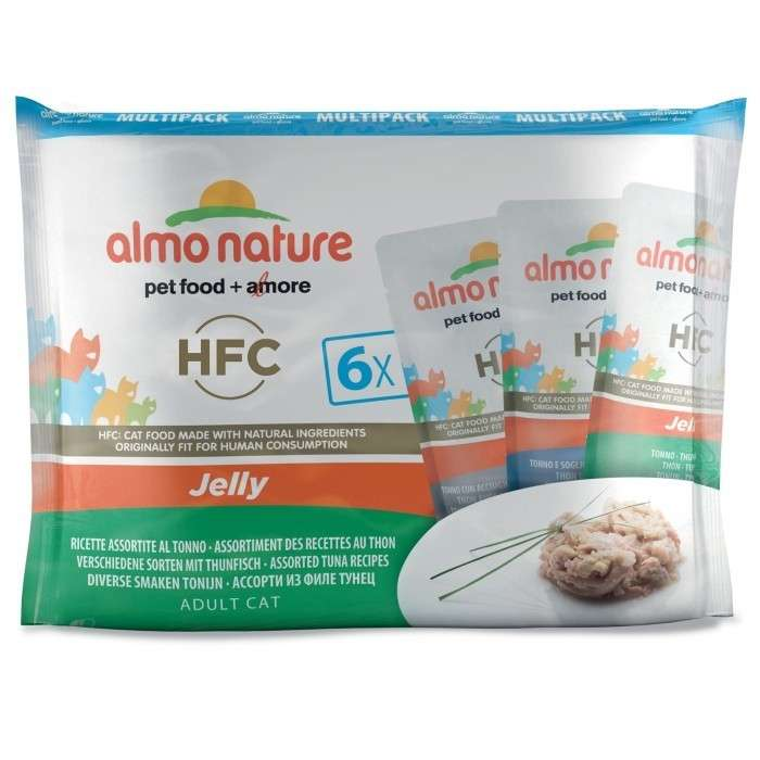 Almo Nature HFC Jelly 3x tipos con Atún in Jelly - Multipack 6x55 g