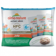 Almo Nature HFC Jelly Multipack mit 3 Sorten Thunfisch in Jelly 6x55 g
