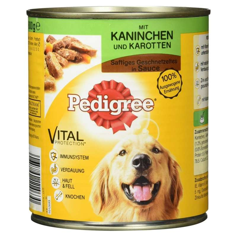 Pedigree Juicy Slices with Rabbit and Carrot 800 g