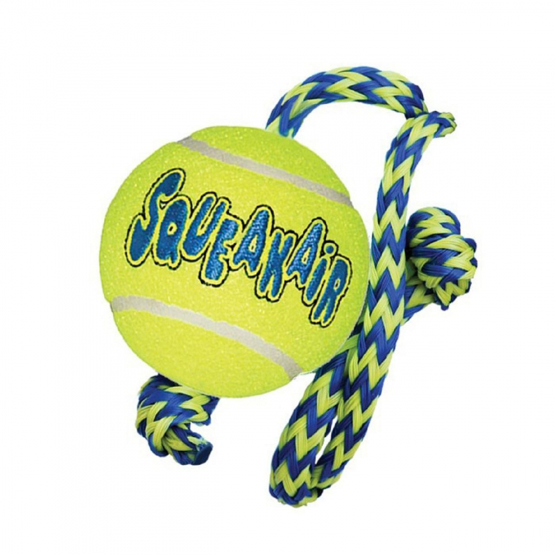 KONG AirDog Squeaker Ball w/Rope M 0035585774978 opiniones