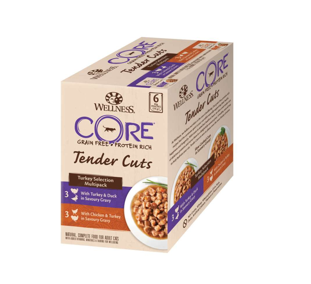 Wellness Pouch Core Tender Cuts Turkey Selection Multipack 6x85 g
