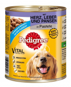 Adult  Hart, Lever & Pensen in Pastei van Pedigree 800 g