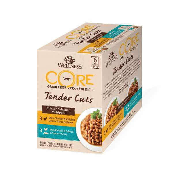 Wellness Core Tender Cuts Pollo Selection Multipack Bolsita 6x85 g prueba