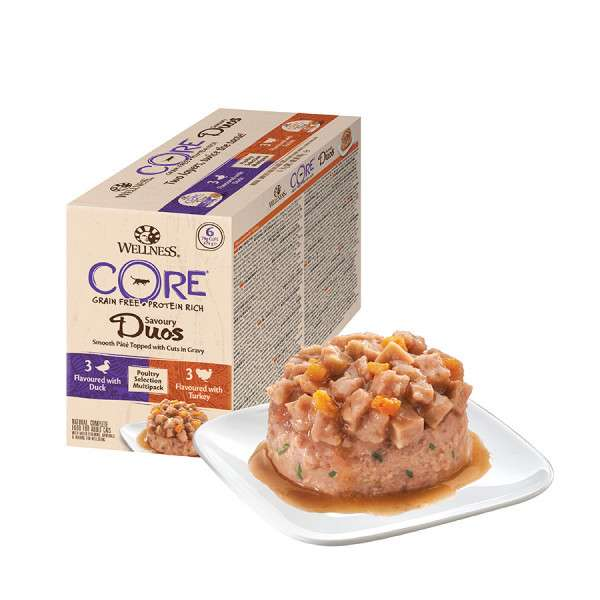 Wellness Tray Core Savoury Duos Poultry Selection Multipack 6x79 g 0076344105749 ervaringen