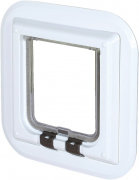 4-Way Cat Flap especially for Glass 27x27 cm