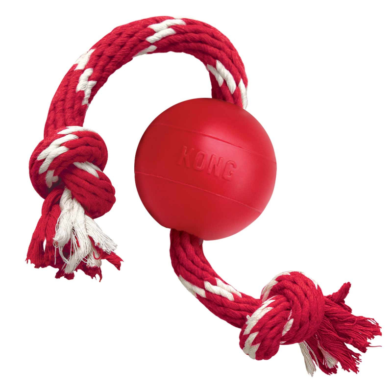KONG Ball with Rope Small  0035585181202 opiniones