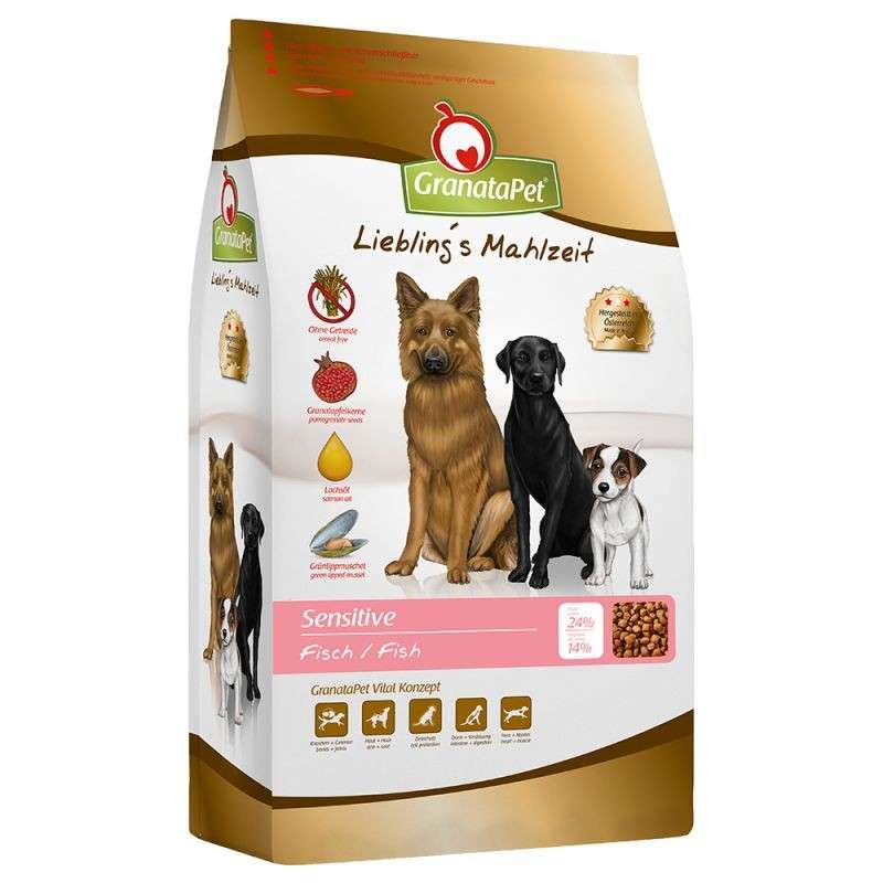 GranataPet Liebling´s Mahlzeit dry food fish Sensitive 10 kg, 4 kg