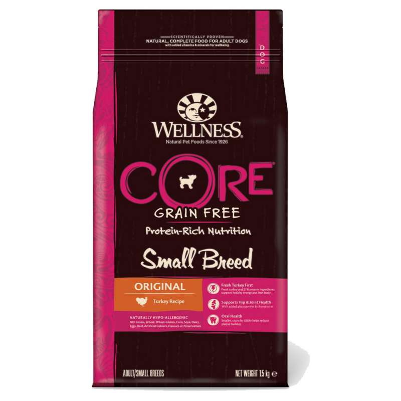 Wellness Core Small Breed Original con Pavo 1.5 kg 0076344107521 opiniones