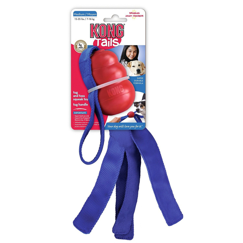KONG Classic Tails M, Rojo/Azul Rojo 0035585112039 opiniones