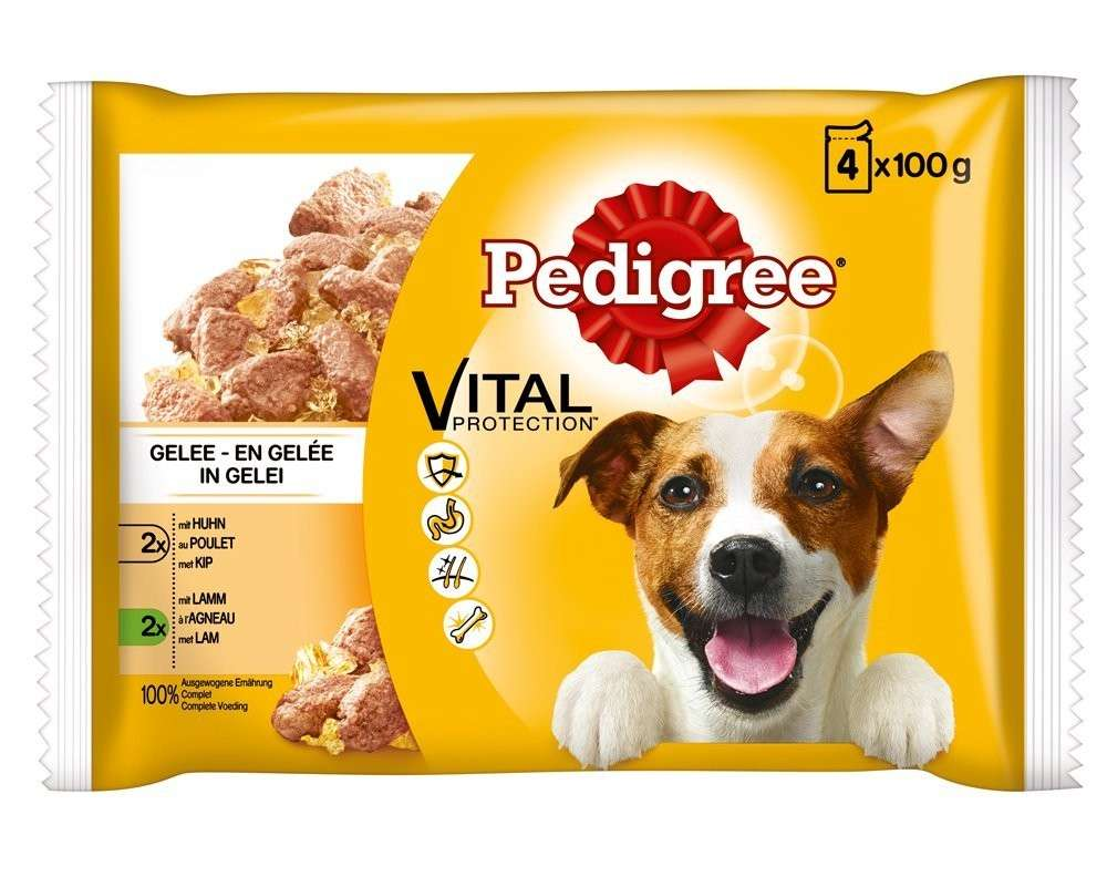 Pedigree Vital Protection Multipack Pollo y Cordero en Gelatina 4x100 g