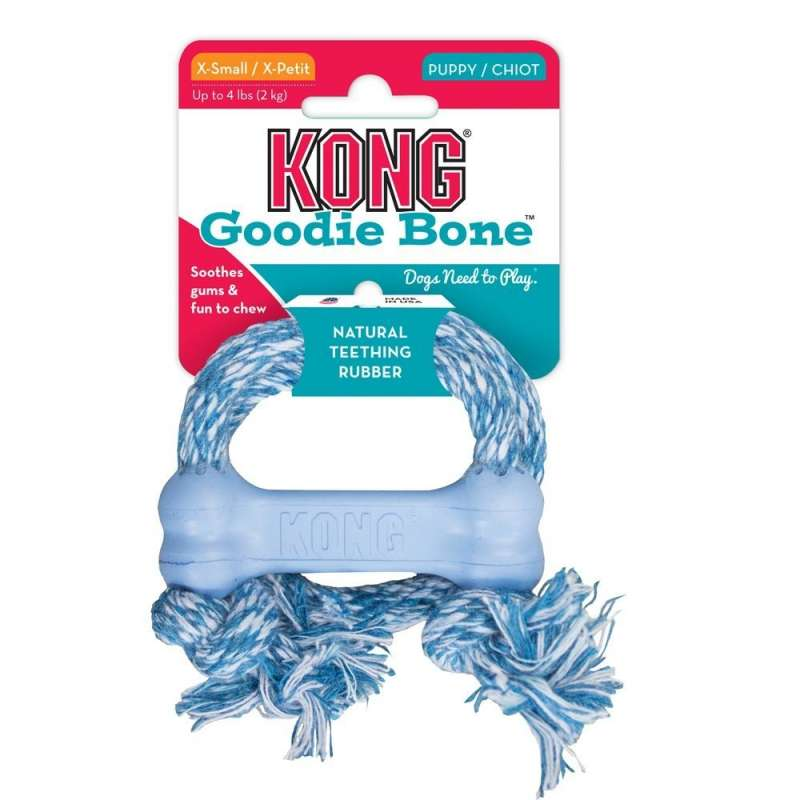KONG Puppy Goodie Bone with Rope  0035585131474 opiniones