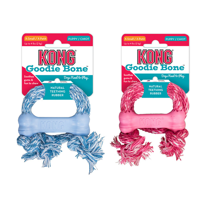 KONG Puppy Goodie Bone with Rope  prueba
