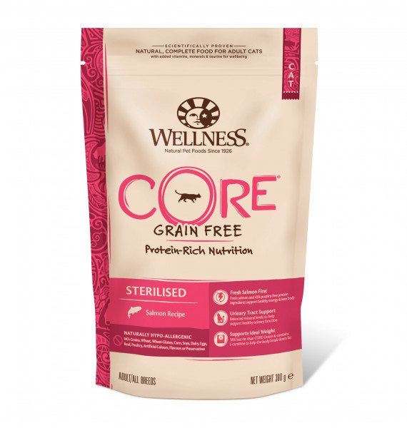 Wellness Core Sterilised au Saumon 1.75 kg, 300 g