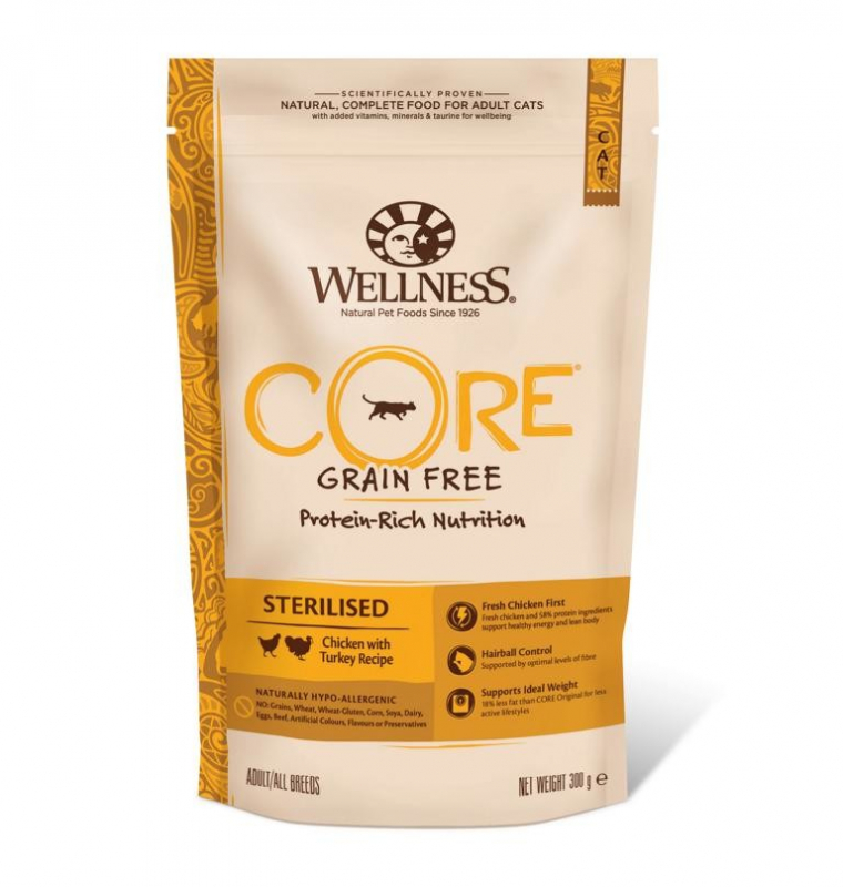 Wellness Core Sterilised Turkey with Chicken Recipe 300 g 0076344107255 ervaringen