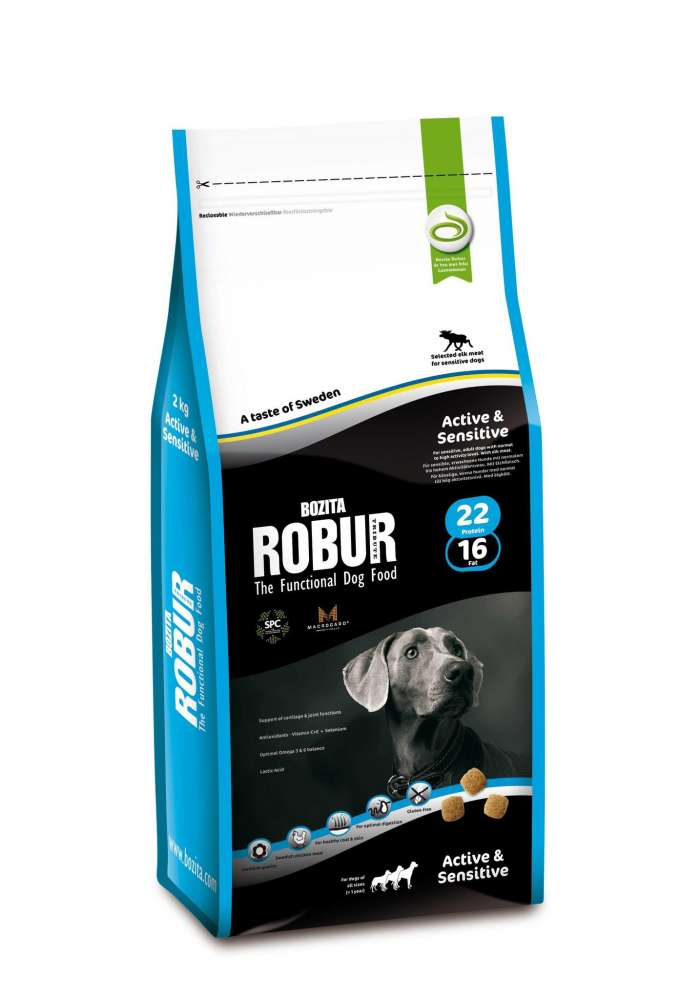 Bozita Robur Active & Sensitive 22/16 5 kg, 2 kg, 15 kg