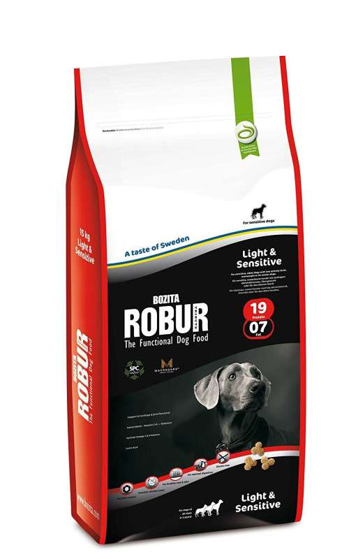 Bozita Robur Light & Sensitive 19/07 1.5 kg, 12.5 kg, 4 kg
