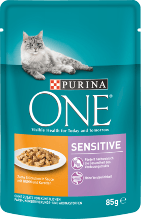 Purina ONE  Sensitive Kylling & gulerødder 85 g