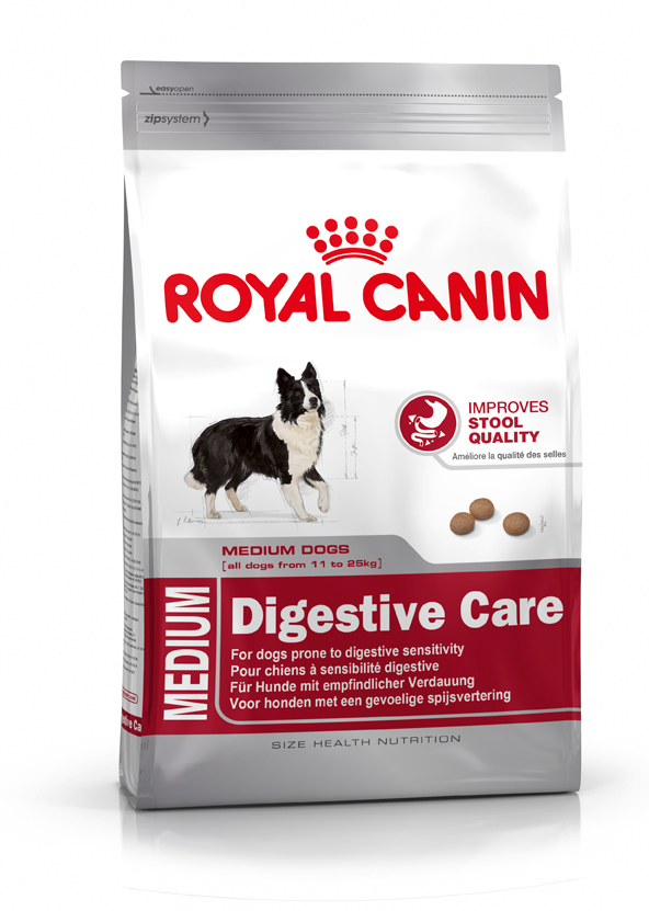 Royal Canin Size Health Nutrition - Medium Digestive Care 15 kg, 3 kg osta edullisesti