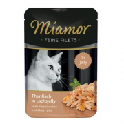 Miamor Feine Filets Tuna in Salmon Jelly Pouch 100 g