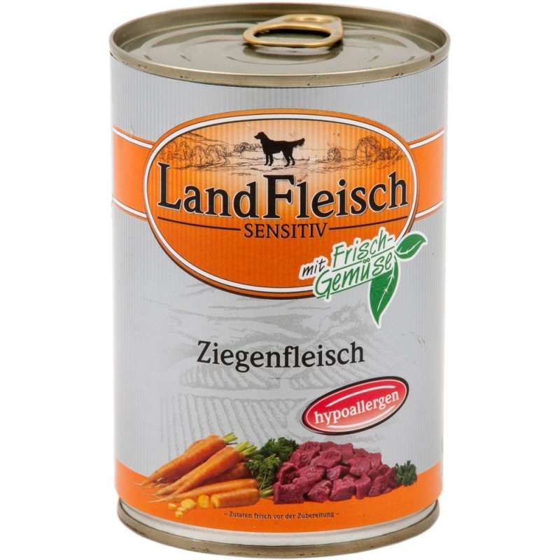 Landfleisch Sensitive Goat with fresh Vegetables Can 12x400 g
