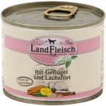 Landfleisch Pur Poultry & Salmon fillet with fresh Vegetables Can