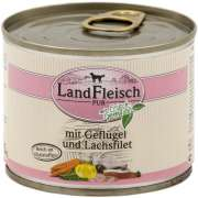 Landfleisch  Pur Poultry & Salmon fillet with fresh Vegetables Can 195 g