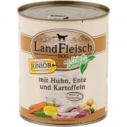 Landfleisch Dog Junior Chicken & Duck & Potatoes with fresh Vegetables Can 800 g