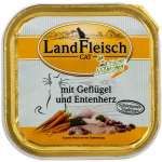 Landfleisch Cat Gourmet Pot Poultry & Duck hearts with fresh Vegetables Tray