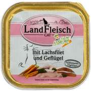 Landfleisch Cat Gourmet Pot Salmon fillet & Poultry with fresh Vegetables Tray 100 g