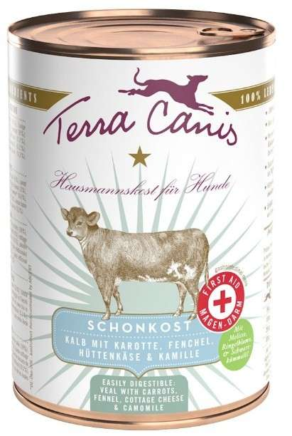 Terra Canis First Aid - Gastrointestinal Menu, Veal with Carrot, Fennel, Cottage Cheese and Camomile 400 g con uno sconto
