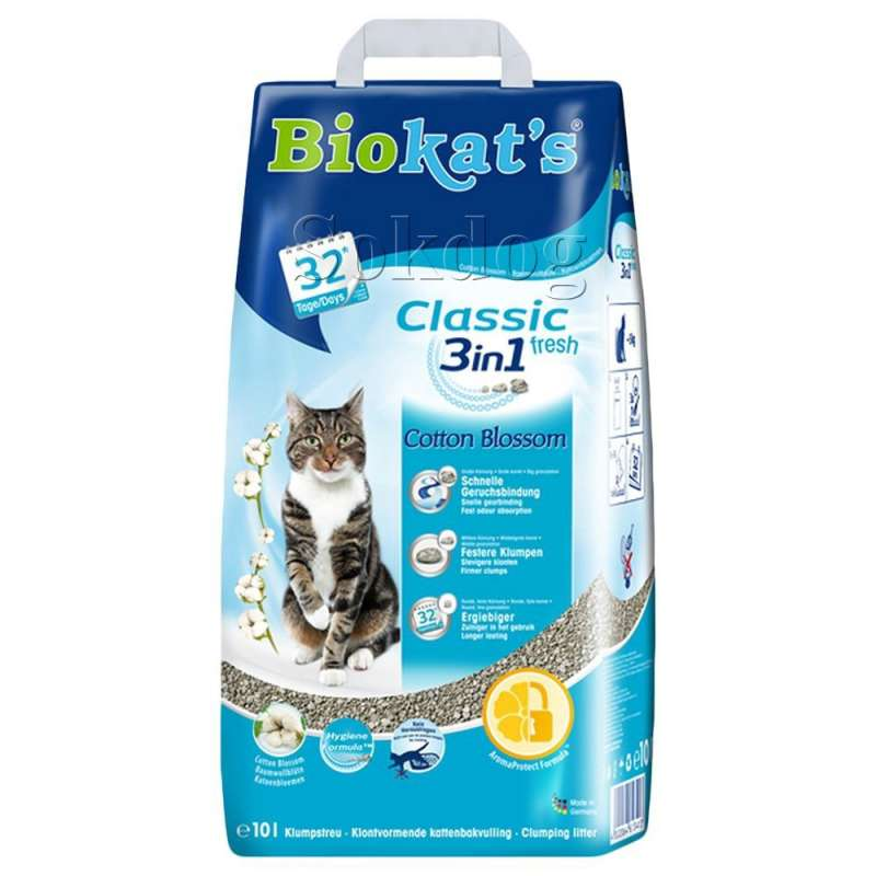 Biokat's Classic fresh 3 in1 Cotton Blossom  10 l  order cheap