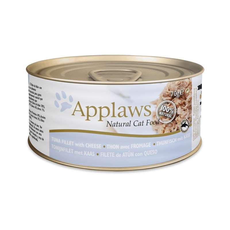Applaws Natural Cat Food Tun & Ost 70 g 5060122490184 anmeldelser