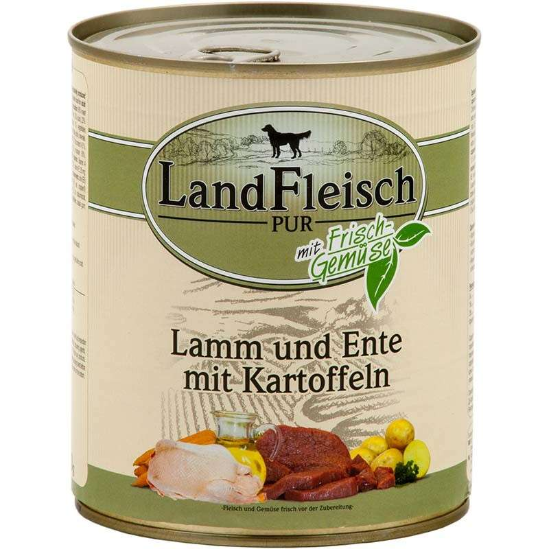 Landfleisch Pur Lamb and Duck with Potato Can 800 g 4003537403340 erfaringer