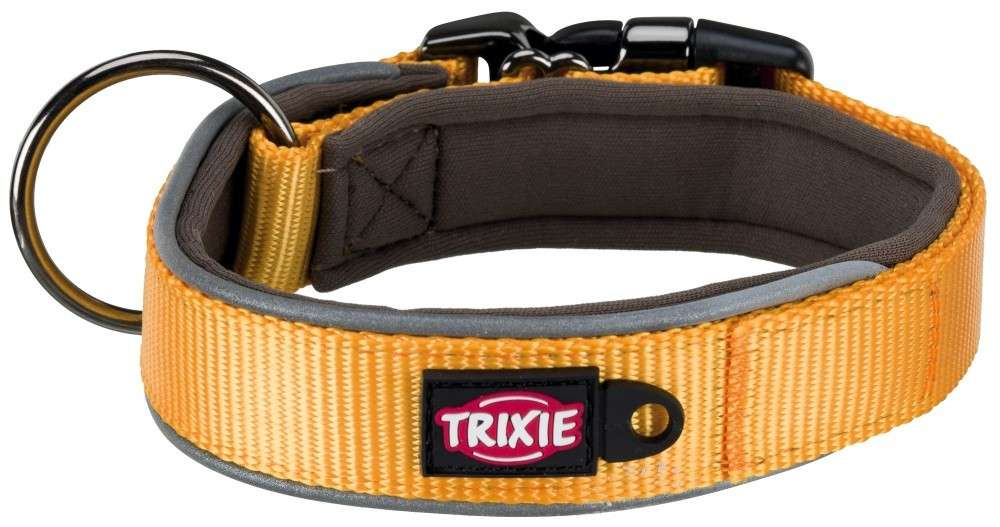 Trixie Experience Halsband, extra breed  Geel L-XL