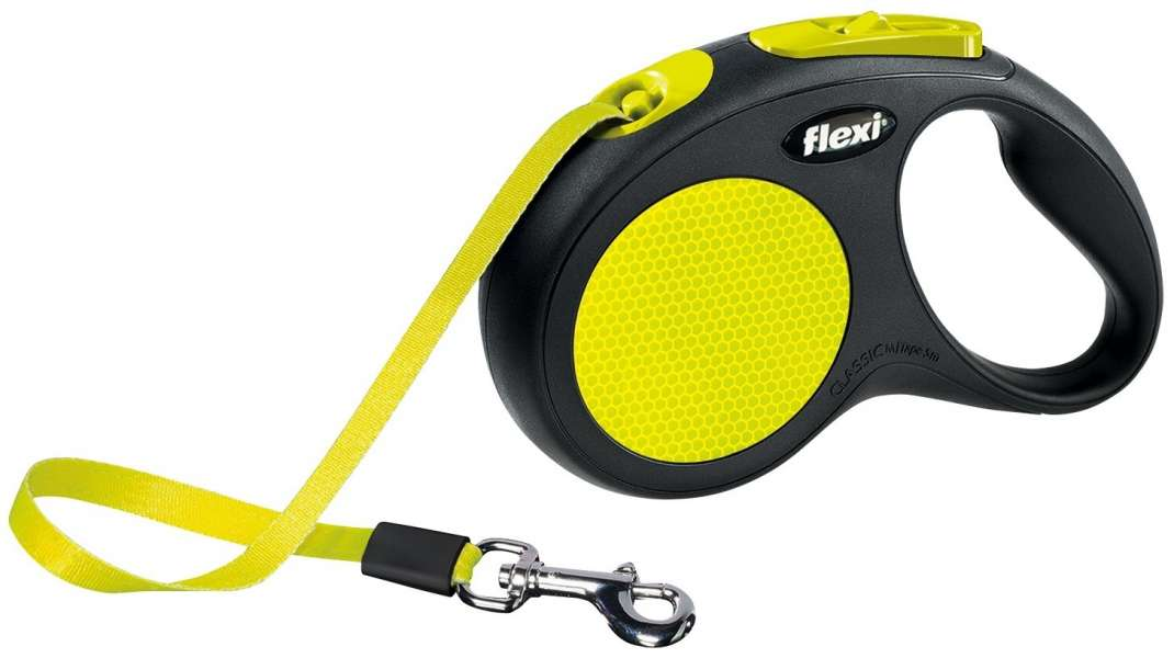 Flexi New Neon Rollijn met Band  M-L/5m