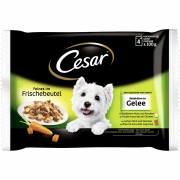 Cesar Pouch Deliciously Fresh Selection In Jelly 4x100 g