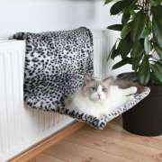 Trixie Radiator Bed Plush, Snow Leopard Grey
