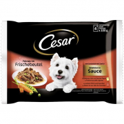 Cesar Pouch Deliciously Fresh Selection in Sauce 4x100 g