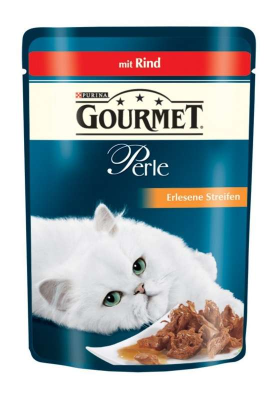 Purina Gourmet Perle Mini Filets in Gravy with Beef Pouch 85 g buy online