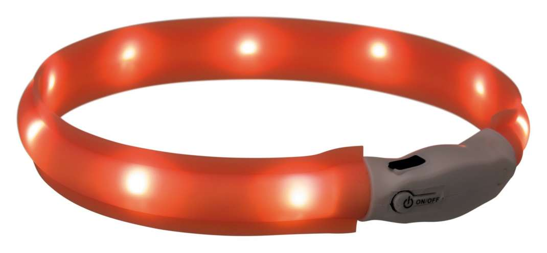 Trixie Collar de Banda Flash USB Naranja XS-S