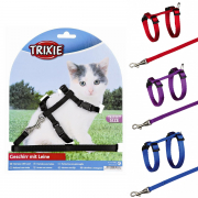 Kitten Harness with Leash, Nylon 19-31/0.8 cm