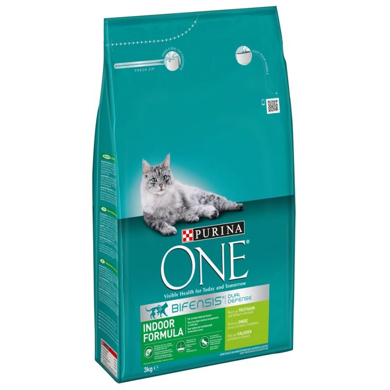 Purina One Bifensis Indoor Formula rich in Turkey and Whole Grains 3 kg