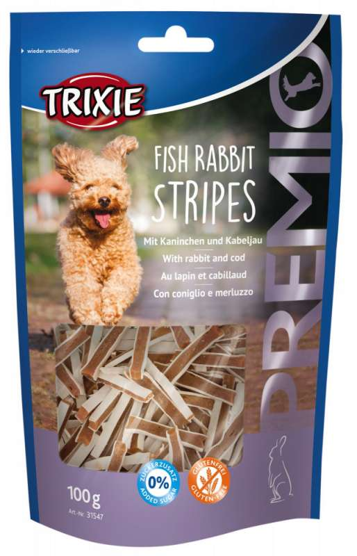Trixie Premio Fish Rabbit Stripes con Conejo y Bacalao 100 g