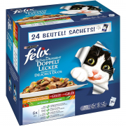 Felix Multipack As Good As It Looks Doubly Delicious - Countryside Selection with Vegetables 24x100 g