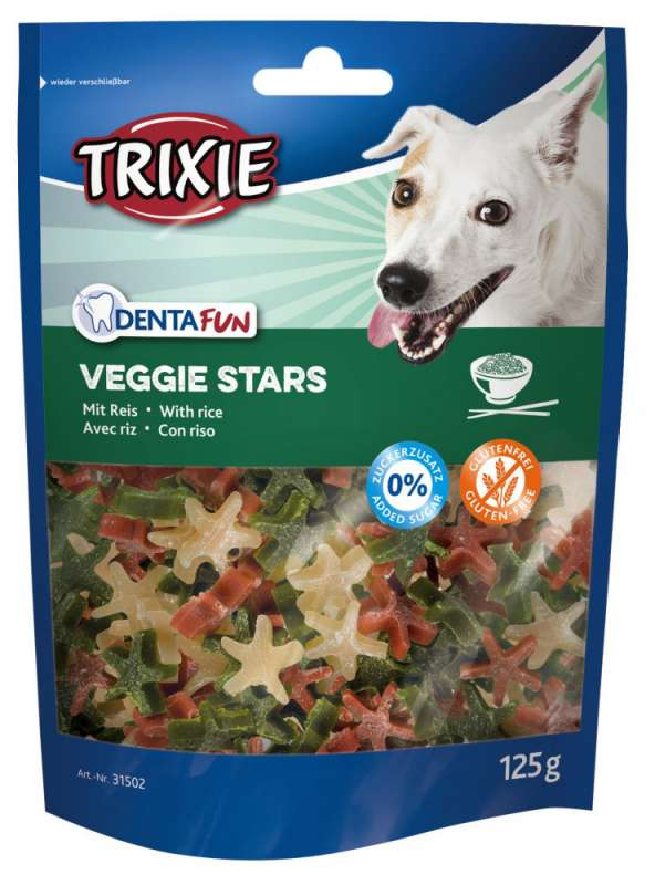 Trixie Denta Fun Veggie Stars 125 g 4011905315027