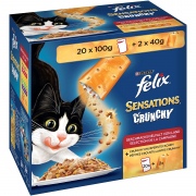 Multipack Sensations Crunchies Mixed Selection 20x100 g + 2x40 g  di Felix
