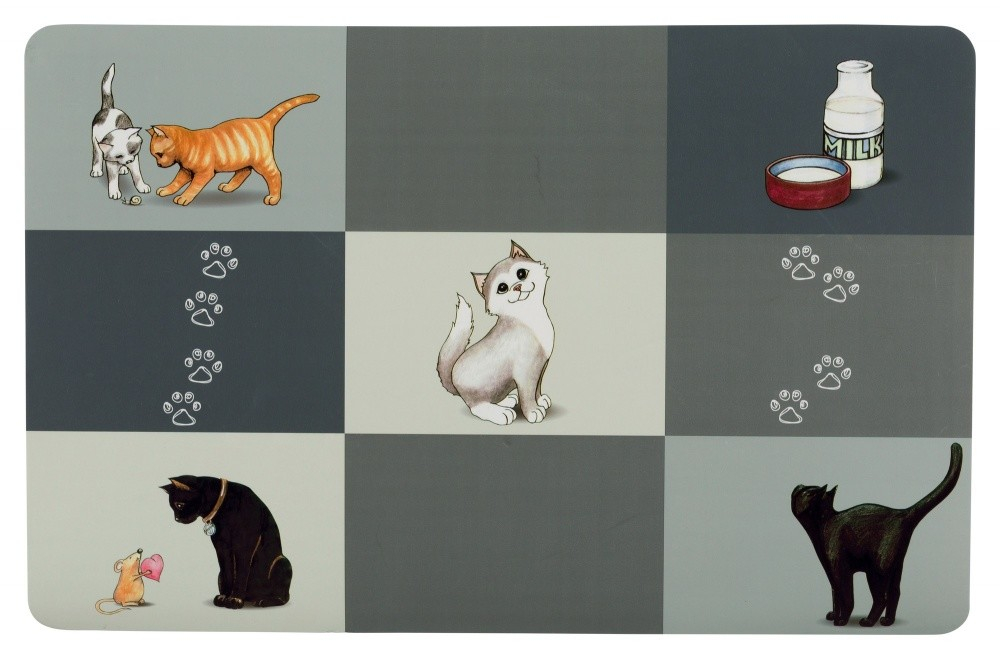 Trixie Set de Table Patchwork Cat  Gris