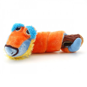 Snoggle Workout Snack toy in plush Orange