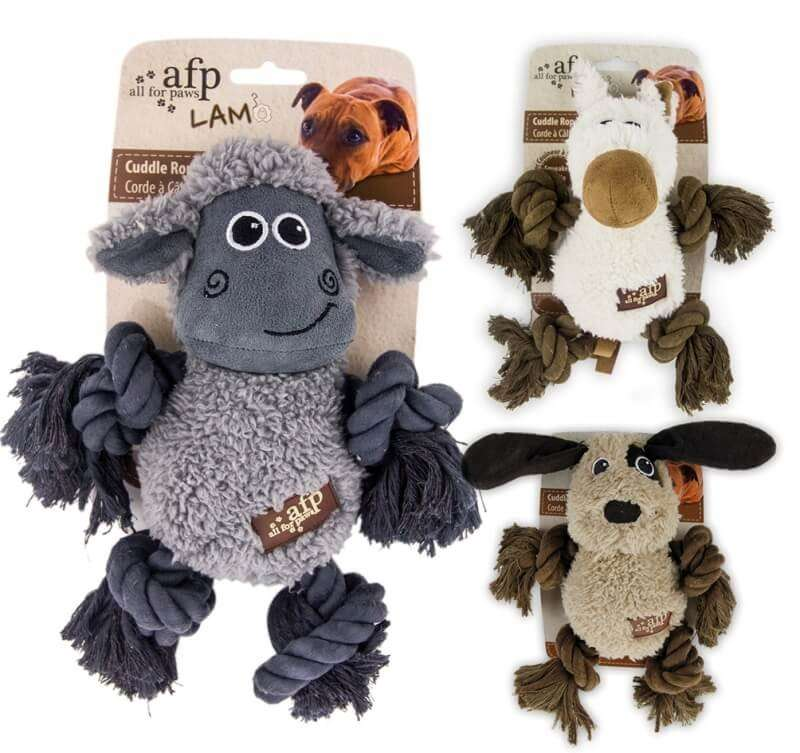 All for Paws Lam Cuddle Plush Bone